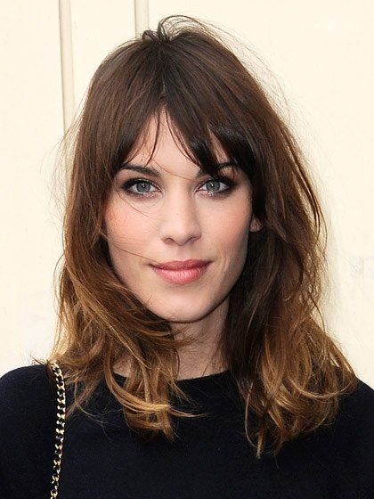 Quirky Hairstyles For Medium Length Hair : Gallery for gt alexa chung bangs